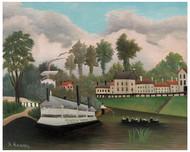Henri Rousseau -Laundy Boat of Pont de Charenton