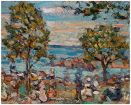 Maurice Brazil Prendergast - Beach Scene with Two Trees