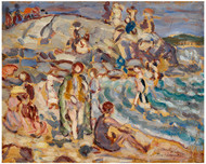 Maurice Brazil Prendergast - Beach Scene and Hill