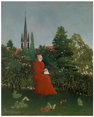 Henri Rousseau - Portrait of a Woman in a Landscape