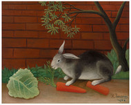 Henri Rousseau - The Rabbit's Meal