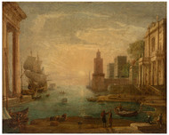 Claude Lorrain - Seaport with Ulysses Restituing Chryseis to her Father Chryses