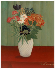 Henri Rousseau - Bouquet of Flowers with China Asters and Tokyos