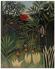 Henri Rousseau - Monkeys and Parrot in the Virgin Forest