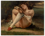 Gustave Courbet - Woman with White Stockings