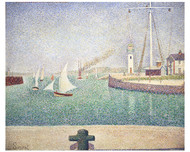 Georges Seurat -  Entrance of the Port of Honfleur