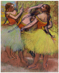 Edgar Degas - Three Dancers with Hair in Braids
