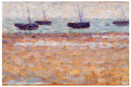 Georges Seurat - Four boats at Grandcamp