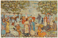 Maurice Brazil Prendergast - Beach Scene with Donkeys