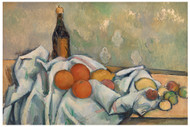 Paul Cezanne - Bottle and Fruits