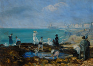 William James Glackens - Beach at Dieppe