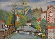 Unidentified Artist - Canal and Houses