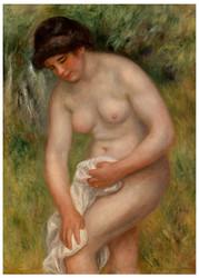 Pierre Auguste Renoir - Bather Drying Herself