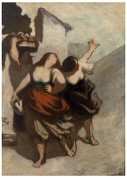 Honore Daumier - The Ribalds