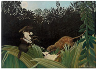 Henri Rousseau - Attacked by a Tiger