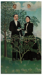 Henri Rousseau - The Past and the Present or Philosophical Thought