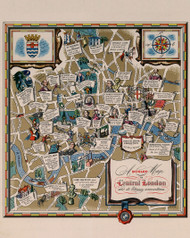 A Dunlop Map of Central London and its Literary Associations 1950