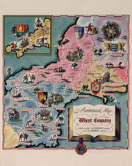 A Dunlop Map of the West Country 1950