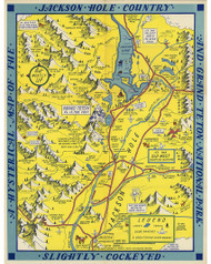 A Hysterical map of the Jackson country and Grand Teton National Park 1948