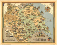 A Map of Yorkshire Produced by British Railways 1949