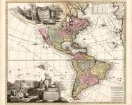 Americae tam Septentrionalis Quam Meridinalis in Mappa Geographica Deliniatio 1700