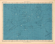 Atlas of Astronomy by Alex Keith Johnston Plate - 17. Maps of the Stars no.3