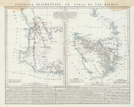 Australia Ocidentale ed Isola di Van Dieman 1848