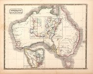 Australia with British Settlements 1848