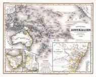 Australien Neuste Karte 1846