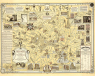 Boston Birthplace of the Telephone a Pictorial map of Down Town Area