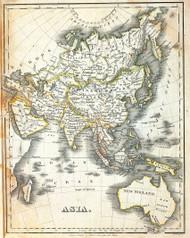 Asia and Australia 1829