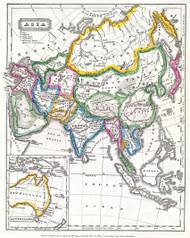 Asia and Australia 1824