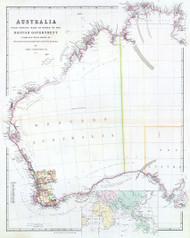 Australia from Survey by Order Brit Gov 1844