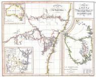 Chart of NSW and Van Diemens Land 1821