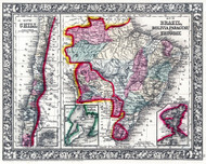 Brazil Bolivia Paraguay 1870