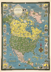 A Pictorial Map of North America 1945