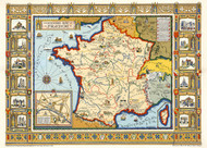 A Picture Map of France 1929