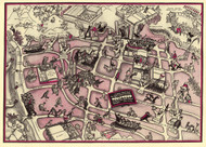 A Slightly Cockeyed Map of that Slightley Cockeyed Community, Hollywood 1937