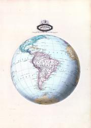 Amerique Du Sud Spheroidale 1860