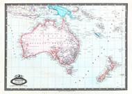 Australie et Nouv Zelande 1860