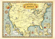 Booklovers Map of America 1926