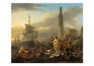 Harbour Scene - Nicolaes Berchem
