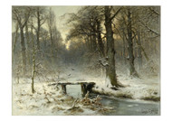 January Evening In The Woods Of The Hague - Louis Apol
