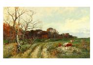 Adolf Kaufmann - Summer Landscape With Grazing Cows