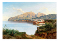 Albert August Zimmermann - A view of Sorrento