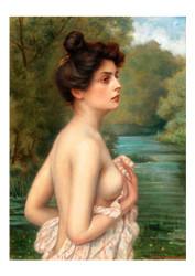 Albert ho - Flinger Female Nude by a River