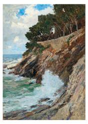 Alfred Zoff - Scene on the Nervi Coast