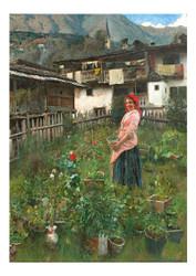 Andrea Tavernier - In a Rustic Garden