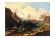 Anton Hanch - A View of a Mountain Lake with Snow Capped Mountains in the Background