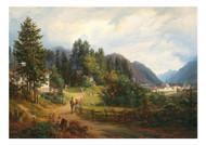 Anton Schiffer - A View of Bad Ischl